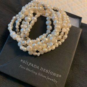 "Silpada Vintage ""Goddess"" Pearl Bracelet Set"